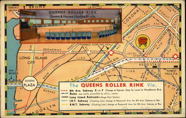 The Queens Roller Rink, Queens and Horace Harding Boulevards Elmhurst New York