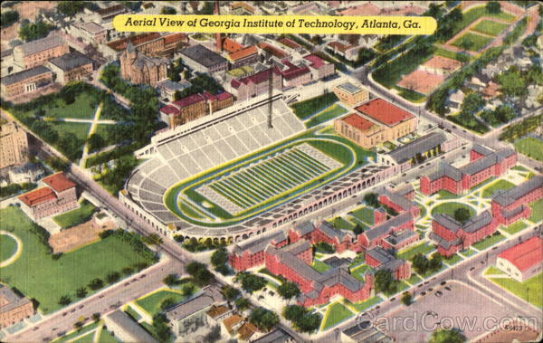 Aerial View Of Georgia Institute Of Technology Atlanta