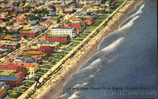 Aerial View Ocean Front Hotels Virginia Beach