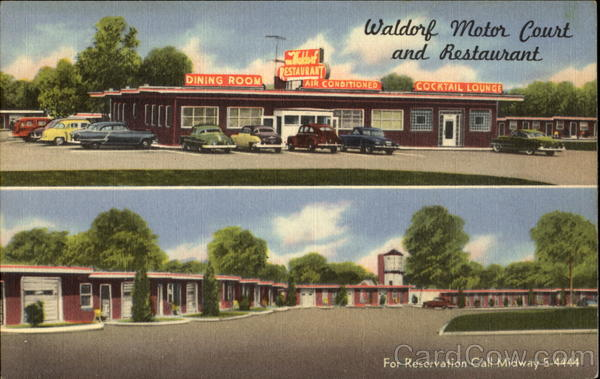 Waldorf Motor Court And Restaurant Washington District of Columbia