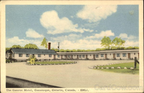 The Ganroc Motel Gananoque Ontario Canada