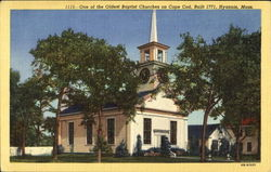 One Of The Oldest Baptist Churches On Cape Cod Postcard