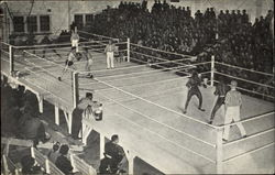 Boxing Is A Popular Sport Among The Soldiers Postcard