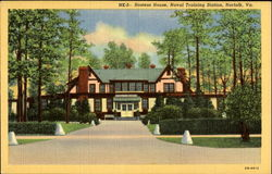 Hostess House, Naval Training Station Postcard