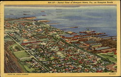 Aerial View Of Newport News, Hampton Roads