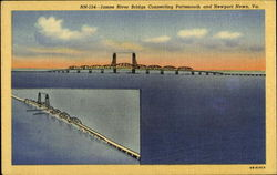 James River Bridge Connecting Portsmouth And Newport News