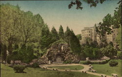 The Grotto Of Lourdes, Saint Mary of the woods College Postcard
