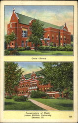 Conservatory Of Music, James Millikin Uiversity Postcard
