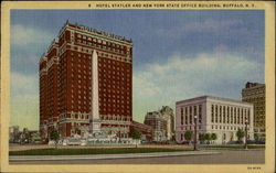 Hotel Statler And New York State Office Building Postcard
