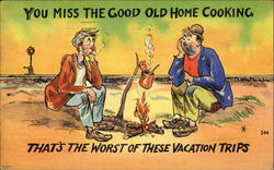 You Miss The Good Old Home Cooking Postcard