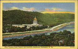 West Virginia State Capitol And Kanawha Boulevard