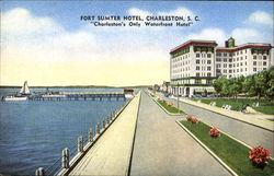 Fort Sumter Hotel Postcard