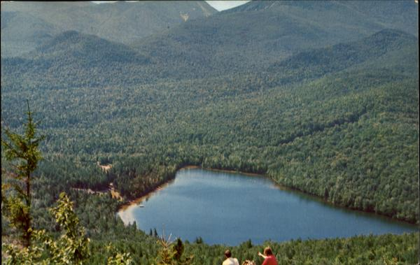 A Mountain Climber's View Of Hart Lake Lake Placid New York