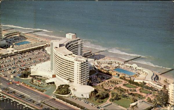 Air View Of The World Renowned Fontainebleau Hotel Miami Beach Florida