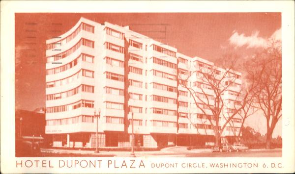 Hotel Dupont Plaza, Dupont Circle Washington District of Columbia