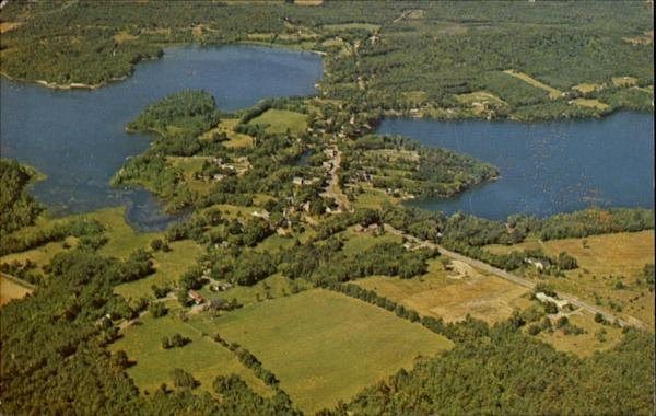 Aerial View Of The Village Wayne Maine