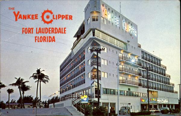 The Famed Yankee Clipper Hotel At Night Fort Lauderdale Florida