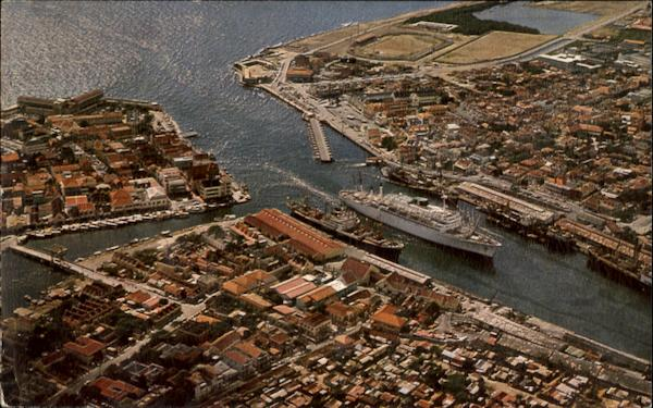 Bird's Eye View Of Harbor Entrance Curacao Caribbean Islands