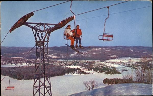 The Double Chairlift Ste. Agatha - Des-Monts Canada