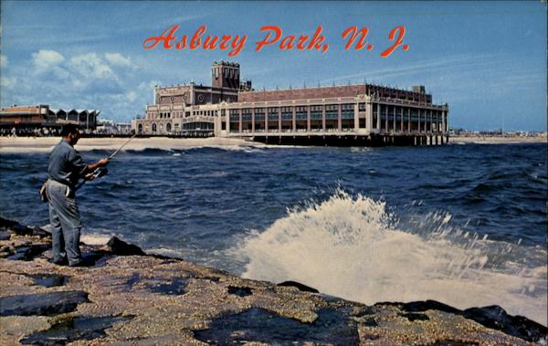 Fishing On The Jetty Asbury Park New Jersey