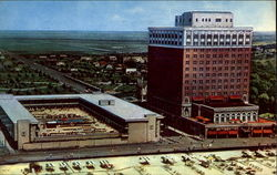 The President Hotel & Motel, Boardwalk at Albany Avenue Postcard