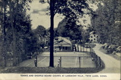 Tennis And Shuffle Board Courts, Lakemont Villa Postcard