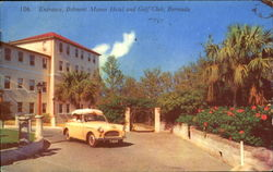 Entrance Belmont Manor Hotel And Gulf Club Postcard