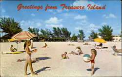 Greetings From Treasure Island Postcard