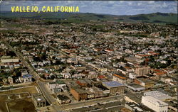 Aerial Of Busy Vallejo