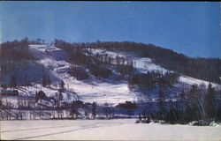 Ski Slopes And Double Chairlift At Mount Ste. Agatha Postcard