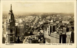 Benjamin Franklin Parkway From P. S. F. S. Bldg