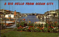 A Big Hello From Ocean City Postcard
