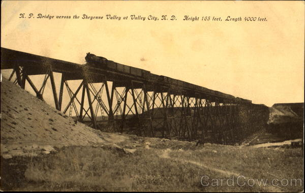 N. P. Bridge Across The Sheyenne Valley Valley City North Dakota