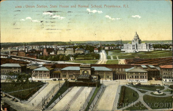Union Station State House And Normal School Providence Rhode Island