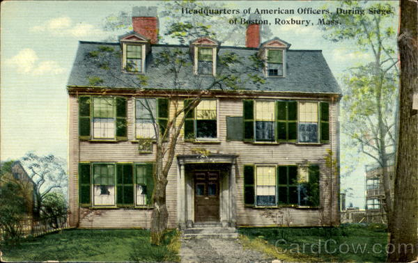 Headquarters Of American Officers Antique Postcard