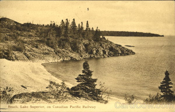 Lake Superior On Canadian Pacific Railway Canada Misc. Canada
