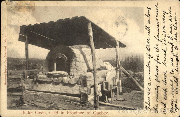 Bake Oven Used In Province Of Quebec Canada