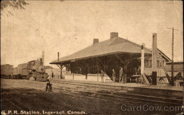 C. P. R. Station Ingersoll Canada Misc. Canada