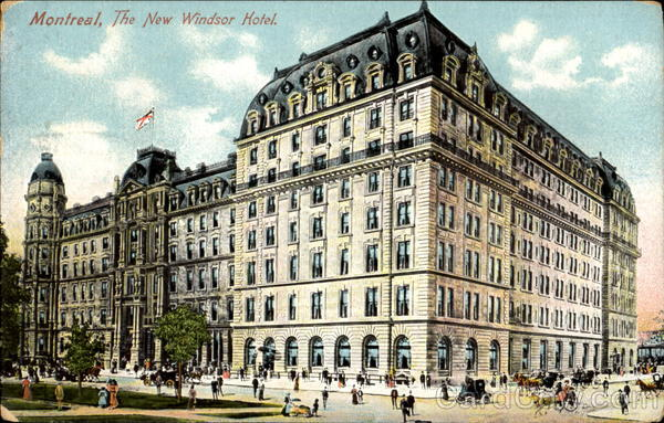 The New Windsor Hotel Montreal Canada Quebec