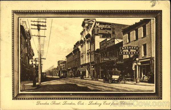 Dundas Street Looking East From Clarence Street London Ontario Canada