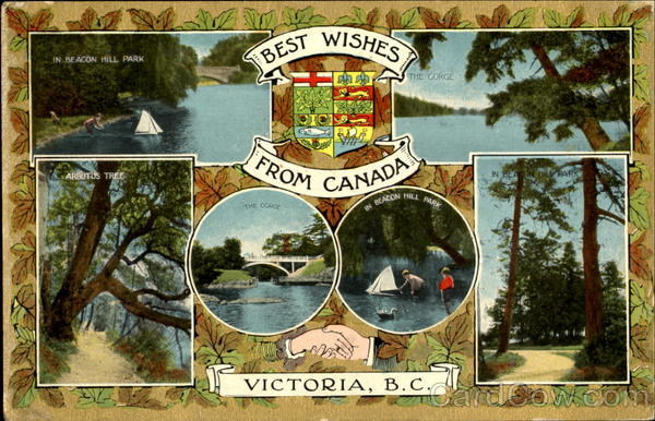 Best Wishes From Canada Victoria British Columbia