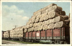 Train Loads Of Cotton For Export