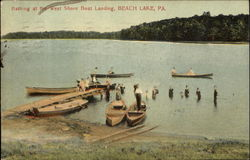 Bathing At The West Shore Boat Landing