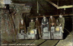 Electric Locomotives In Coal Mine