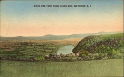 Birds Eye View From Jacks Hill Postcard