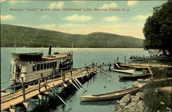 Steamer Anita At Her Dock, Sterling Forest