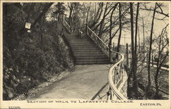 Section Of Walk To Lafayette College