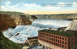 Great Falls Of The Missouri And Volta Dam
