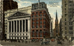 The New York Stock Exchange, Trinity Church and wall Street
