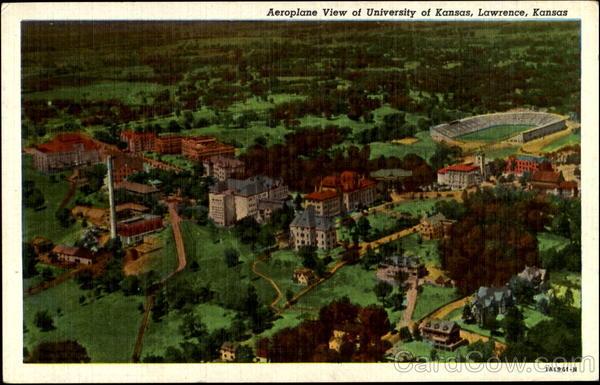 Aeroplane View Of University Of Kansas Lawrence